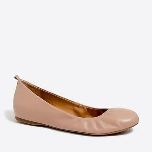 J. Crew Anya Leather Ballet Flat